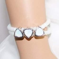 Armband met parelmoer