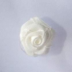 Haarbloem ivoor 1,5 cm