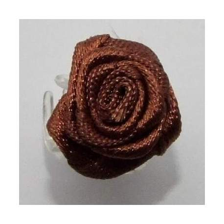 Haarbloem donkerbruin 1,5 cm