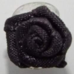 Haarbloem donker grijs 1,5 cm.
