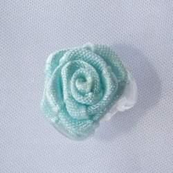 Haarbloem licht aqua 1,5 cm