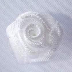 Haarbloem wit 2 cm