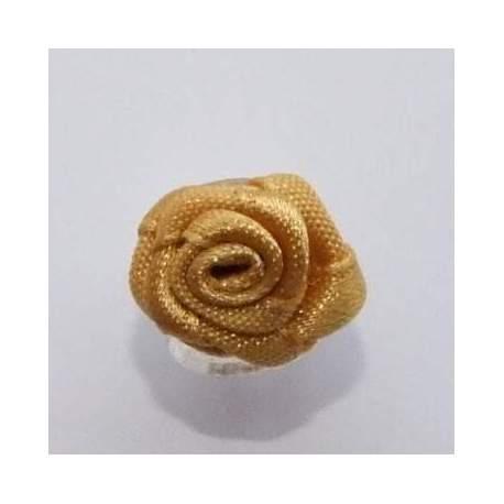 haarbloem geelgoud roosje 1,5 cm.