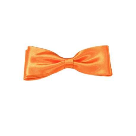 Junior - heren vlinderstrik oranje satijn