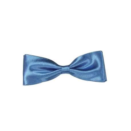Junior - heren vlinderstrik midden blauw