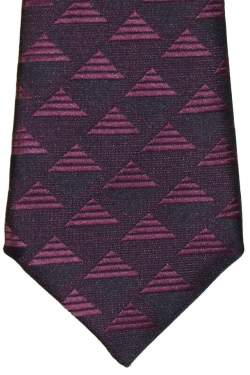 Kinderstropdas donkerblauw met paars 32 cm.