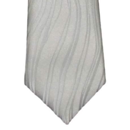 Kinderstropdas wit met ingeweven golf 32 cm.