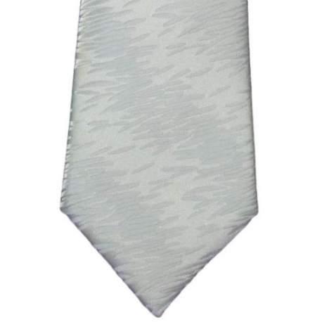 Kinderstropdas wit met streepjes motief 32 cm.