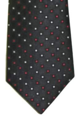 Kinderstropdas zwart met rode en witte stip 27 cm.