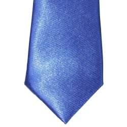 Kobalt blauwe satijnen das 32 cm.