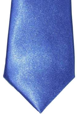 Kobalt blauwe satijnen das 32 cm.-11-s
