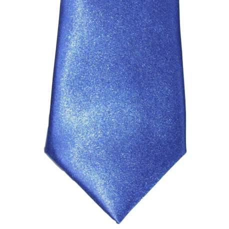 Kobalt blauwe satijnen das 27 cm.