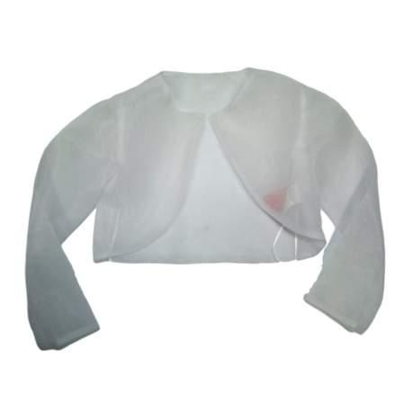 Witte organza bolero