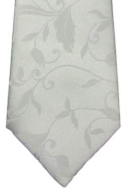 Kinderstropdas wit met bloemmotief 32 cm.