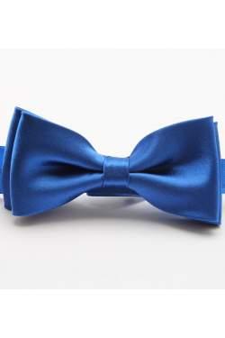 Kobalt blauwe satijnen strik
