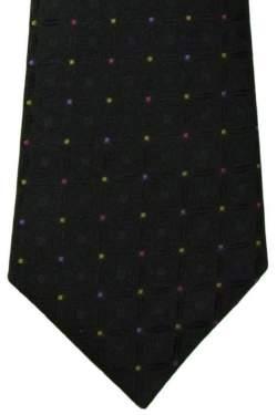 Kinderstropdas zwart met gekleurde stipjes 27 cm.