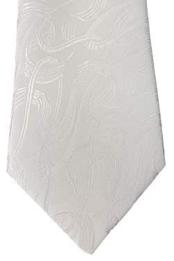 Kinderstropdas wit met reliëf 32 cm.