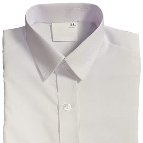 Getailleerd wit jongensoverhemd