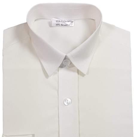 Getailleerd Jongensoverhemd licht ivoorkleur