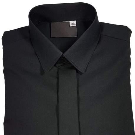 Jongensoverhemd zwart