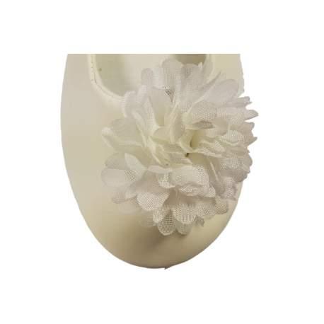 Schoen clip bloem ivoor