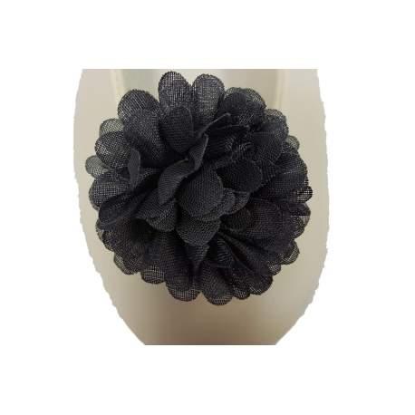 Schoen clip bloem donkergrijs