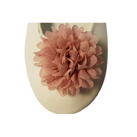 Schoen clip bloem oudroze