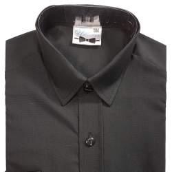 Getailleerd zwart jongens overhemd