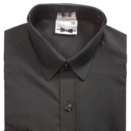 Getailleerd zwart overhemd Hr