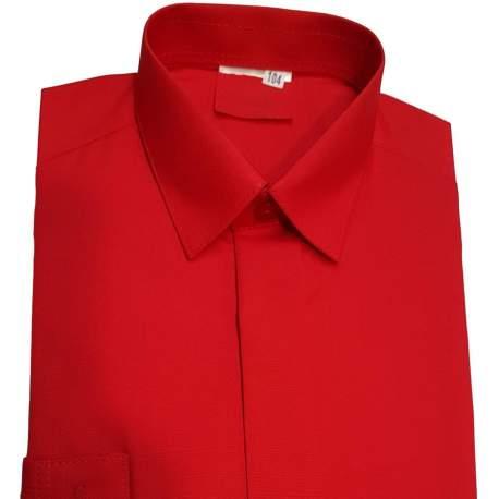 Jongens overhemd rood