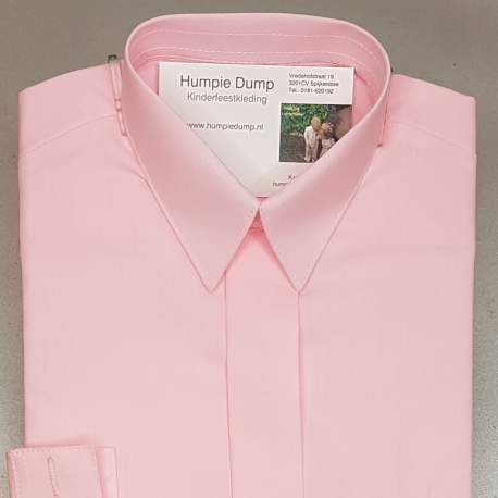 Jongens overhemd fel roze