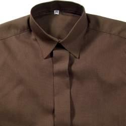 Jongens overhemd bruin