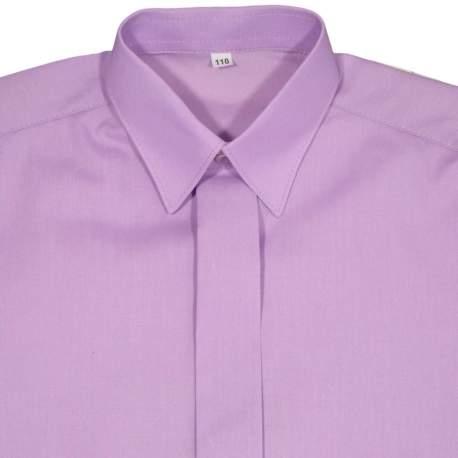 Jongens overhemd paars