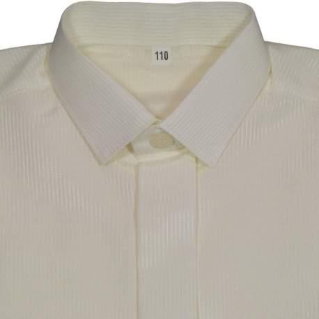 Jongens overhemd ivoor streepje