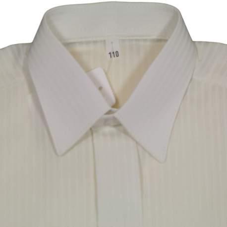 Jongens overhemd ivoor brede streep