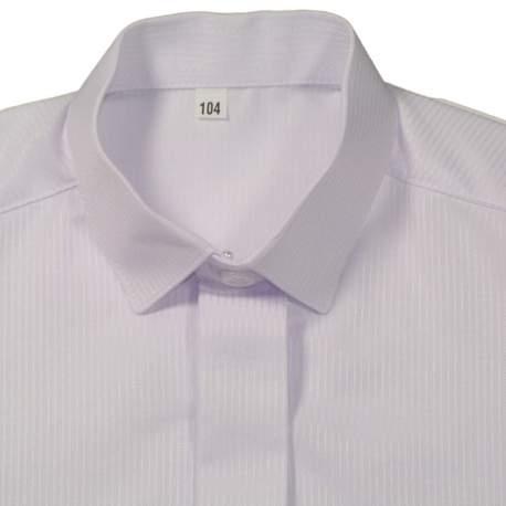 Jongens overhemd wit streepje