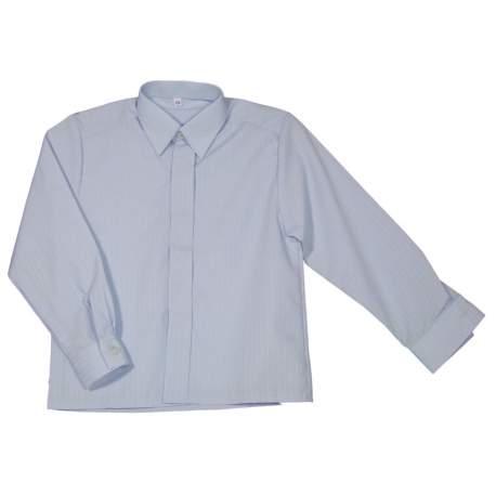 Jongens overhemd licht blauw streepje