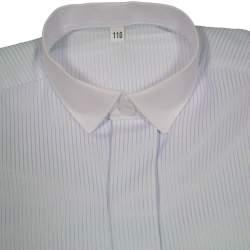Jongens overhemd lichtblauw met wit