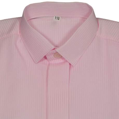 Jongens overhemd roze met streepje