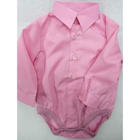 Baby overhemd romper roze