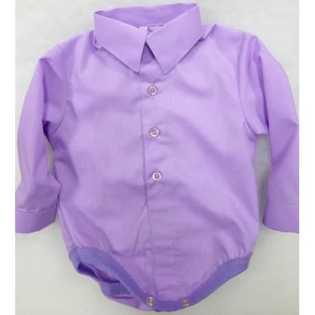 Baby overhemd romper middenpaars