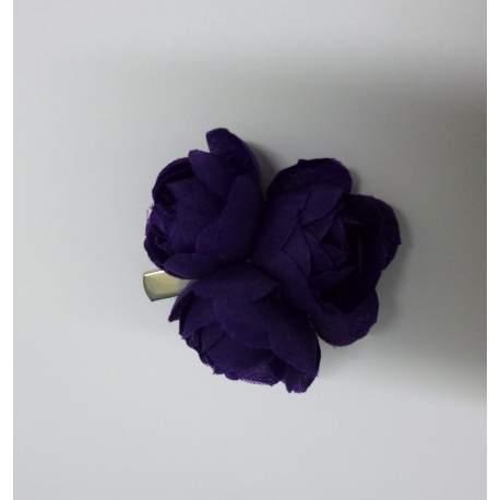 Haarclip met 3 bloemen paars