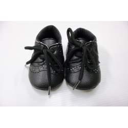 Zwart baby jongensschoentje