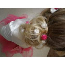 Haarbloem fuchsia 1,5 cm