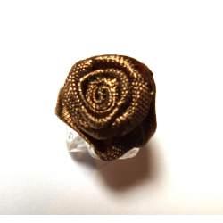Haarbloem bronskleur 1,5 cm