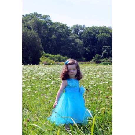 Feestjurk Lara turquoise
