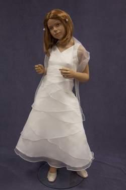 Bruidsmeisjes jurk Pam ivoor