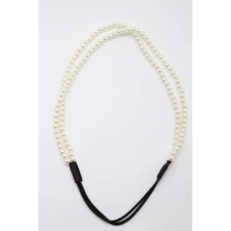 Haarband met parels