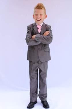 Jongenskostuum grijs met streep kleur 19