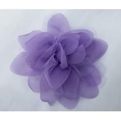 Corsage, bloem van tule en taft lavendel